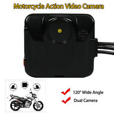 Motorcycle Mounted 2 Mini Action Camera 720p HD Video DVR Recorder W/Hard Wire