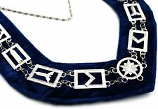 MASONIC REGALIA MASTER MASON BLUE LODGE,SILVER METAL CHAIN COLLAR $43.99!!-