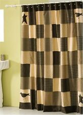 Kettle Grove Primitive Patchwork Bathroom Shower Curtain by Victorian Heart