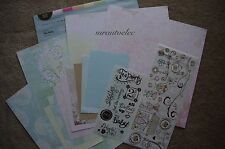 Creative Memories Delight Tea Party 12x12 Additions Kit / Paper Baby Girl