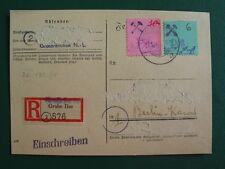 Lokalpost Großräschen MiNr 30 auf R-Karte, beschädigt (L261-N)