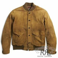 $2400 RRL Ralph Lauren 1930s Deerskin American Leather Suede Jacket Coat-MEN- L