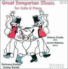 Great Hungarian Music for Cello & Piano - COOKE / WATKINS - MUSIC CD - NEW -F965