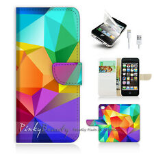 iPhone 5C Print Flip Wallet Case Cover! Colourful Abstract Pattern P0189