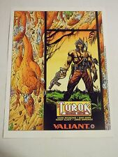 1X TUROK DINOSAUR HUNTER 1993 Valiant Poster RARE 8X11 EXMT Lots Available