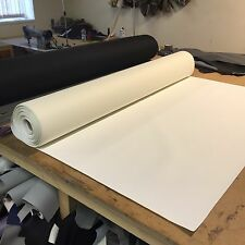 Heavy Grain White Car Upholstery Vinyl Leather Look Material
