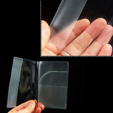 2xSuper Clear Thin Passport Cover Holder Case Organizer ID Card Protector Travel