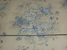 'Rose Mallow Blue Baker Lifestyle Parkertex Beachcomber Furnishing Fabric 1.9 mt