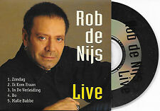 OB DE NIJS - Live CD EP SINGLE 5TR DUTCH CARDSLEEVE 1996 (EMI)