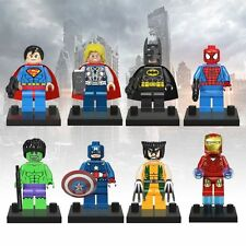 8 Sets Super Heroes Avengers Mini Figures Minifigs Iron man hulk Fit for Lego