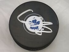 Connor Carrick Toronto Maple Leafs Signed Autographed NHL Logo Puck cc2