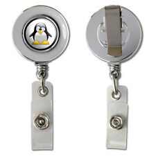Penguin - Snow Bird Retractable Reel Chrome Badge ID Card Holder