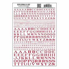 Letters Dry Transfer Sheet, Roman RR Red Dt - Woodland Scenics WMG704