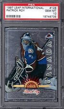 Patrick Roy HOF  1997 Leaf International #128  PSA 10