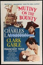 Original MUTINY ON THE BOUNTY Linen Backed 1 Sheet CLARK GABLE Charles Laughton