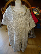 INC  INTERNATIONAL CONCEPTS PLUS SIZE SWEATER SIZE 2X  BROWNS/WHITES/TAN NWT