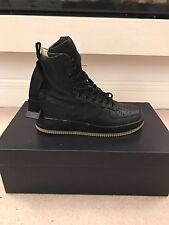 Campo SPECIALE Nike Air Force 1-Matte Black/Gum-UK 7/US 8-SF AF UNO