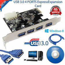 Latest USB 3.0 4 Port PCI-E PCIE Card Super Express Expansion Card Adapter