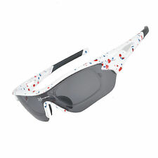 RockBros Polarized Bike Goggles Sunglasses Cycling Glasses UV400 White New