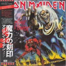 IRON MAIDEN NUMBER OF THE BEAST CD MINI LP OBI  (JAPANISE BOOKLETS)