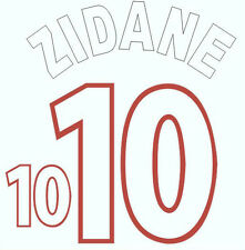 Euro 2000 Zidane 10 France Home Football Name set  for National shirt
