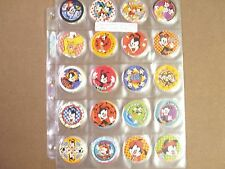 POGS/MILKCAPS ANIMANIACS U.S. ISSUE  COMPLETE SET OF (60) ALL SILVER  IN  PAGES