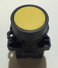 22mm MOMENTARY pushbutton Switch YELLOW 10A NO Contact 600v Max