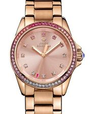 JUICY COUTURE WOMENS STELLA ROSE GOLD TONE CRYSTALS BLING WATCH NIB