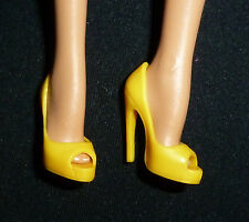 SHOES ~ BARBIE DOLL MODEL MUSE FAN BINGBING YELLOW PEEP TOE PUMPS HIGH HEEL