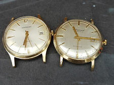 Garrard 9ct gold watch and a Le-Cheminant 9ct gold job lot