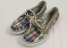 Sperry Top Sider Mens Deck Shoes 10.5 Plaid