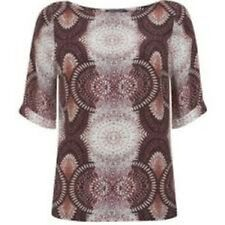 Mint Velvet Ellie print tee top UK 10 RRP £69.99 Box1277 d