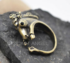 Vintage Bronze Plt Horse Pony Ring  / Thumb Ring Adjustable Ladies Girls gift