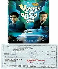 DAVID HEDISON   AMERICAN FILM STAR ACTOR   SIGNED BANK CHEQUE / CHECK 1977  RARE