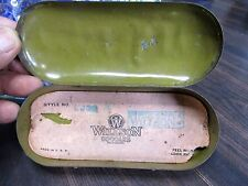 WILLSON ANTIQUE MOTORCYCLE ACCESSORY TIN GOGGLE CASE BICYCLE AVIATION ORIGINAL