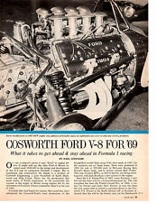 1969 COSWORTH FORD V-8 ENGINE  ~  ORIGINAL 3-PAGE ARTICLE