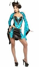 Chinese Geisha Costume Bustier Lace up Corset Women's Small Oriental China Doll