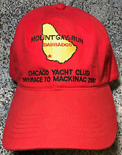 New Never Worn 2007 Mount Gay Rum Hat Chicago Yacht Club - 99th Race to Mackinac