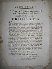V129-PERIODO NAPOLEONICO-CAMERA DI COMMERCIO-RINGRAZIAMENTO A NAPOLEONE
