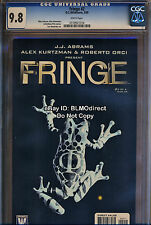 1 CGC 9.8 Fringe #2 JJ Abrams Hit FOX TV Show Comic