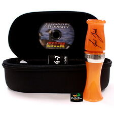 ZINK CALLS LM1 LITTLE MAN ORANGE MARBLEADE ACRYLIC SHORT REED CANADA GOOSE CALL