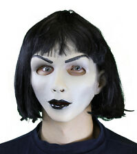 Hot Goth Girl Sexy Creepy Doll Woman Mask Soft Adult Halloween Costume Mask