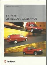 VAUXHALL COMBO, ASTRAVAN AND CORSA VAN  SALES BROCHURE 2000