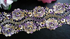 2  1/4 inch wide embroidered lace   selling by the yard