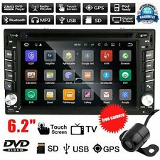 Android 5.1 2Din Car Stereo GPS DVD Player 6.2 Bluetooth Radio 3G WiFi+Camera EA