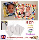 8 Blank Photo Frame Cards & Envelopes Design Your Own DIY Window Aperture Gift