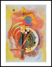 Kandinsky Homage a Grohmann Poster Kunstdruck mit Alu Rahmen in schwarz 80x60cm