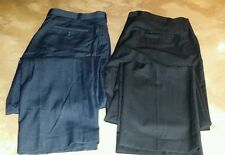 2 Pairs!! Mens Calvin Klein Black Pinstripe Slacks Dress pants Blue Size 38 x 32