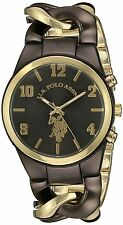 NEW U.S. Polo Assn. Women's USC40177 Analog Display Analog Quartz Two Tone Watch