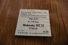 TICKET THE WHO 1981  UK